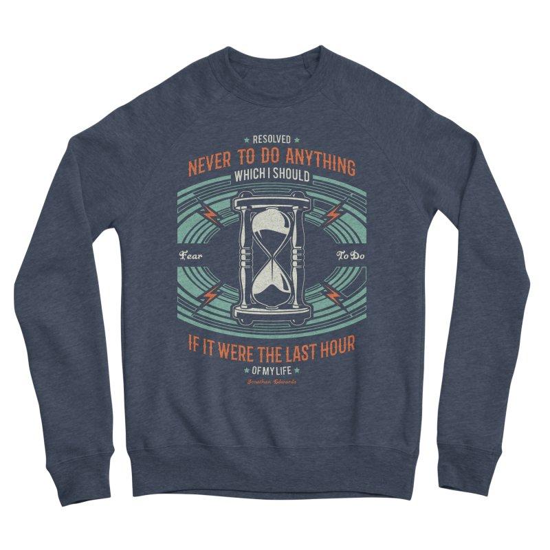 Resolution No. 7 | Jonathan Edwards Men's Sponge Fleece Sweatshirt by Reformed Christian Goods & Clothing