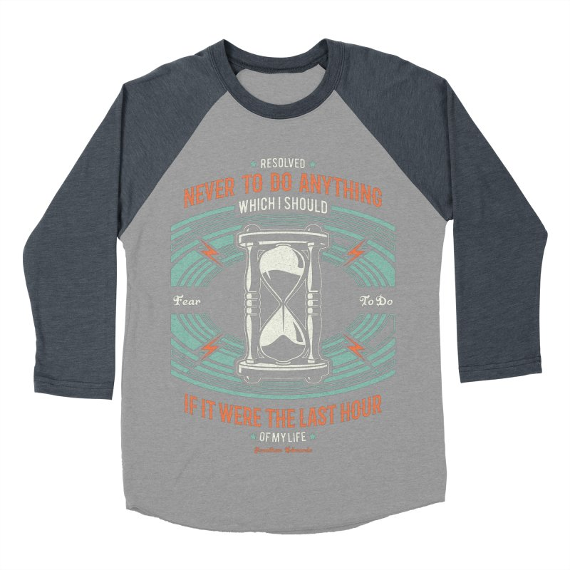 Resolution No. 7   Jonathan Edwards Women's Baseball Triblend Longsleeve T-Shirt by Reformed Christian Goods & Clothing