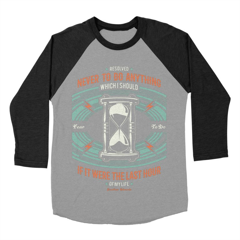 Resolution No. 7 | Jonathan Edwards Men's Baseball Triblend Longsleeve T-Shirt by A Worthy Manner Goods & Clothing
