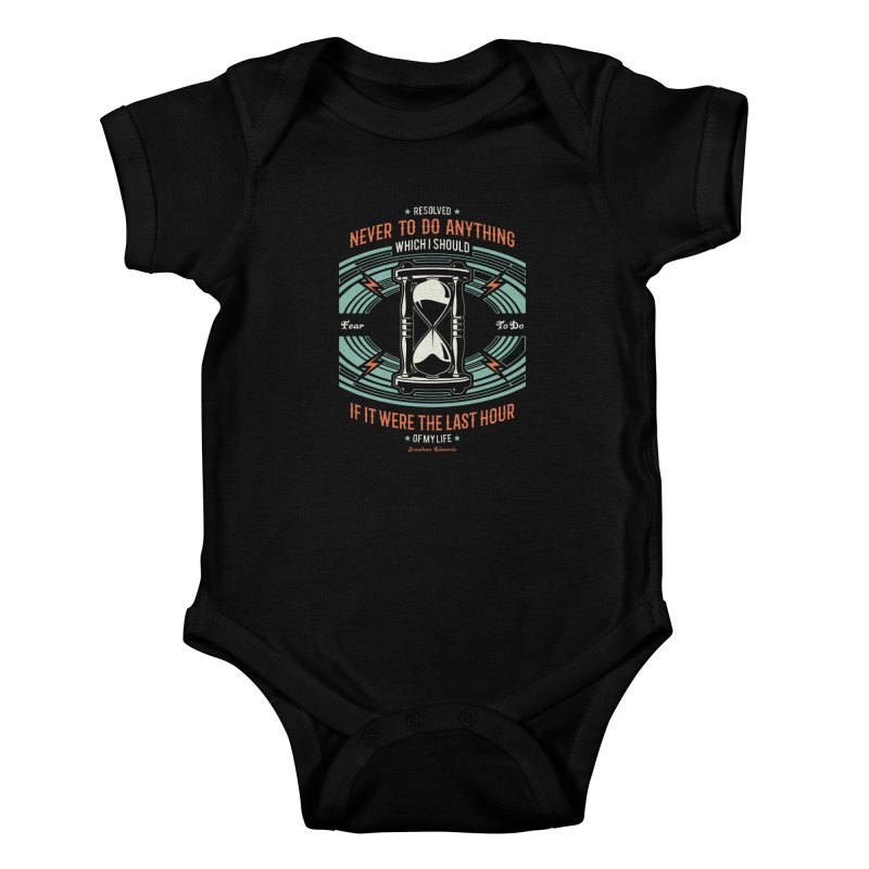 Resolution No. 7   Jonathan Edwards Kids Baby Bodysuit by A Worthy Manner Goods & Clothing