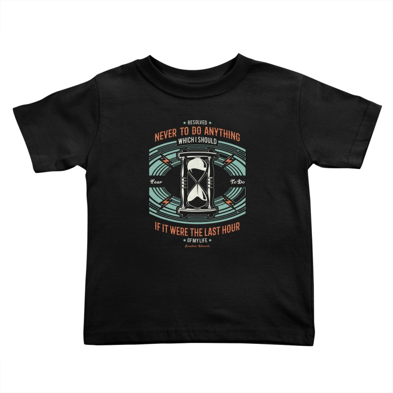 Resolution No. 7 | Jonathan Edwards Kids Toddler T-Shirt by Reformed Christian Goods & Clothing