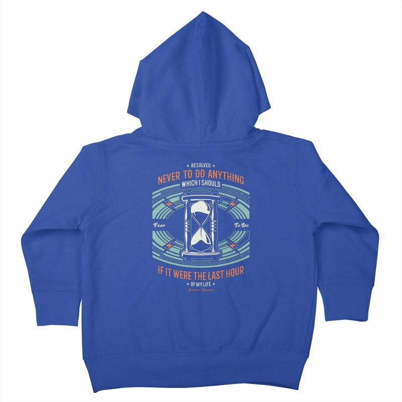 Resolution No. 7 | Jonathan Edwards Kids Toddler Zip-Up Hoody by Reformed Christian Goods & Clothing