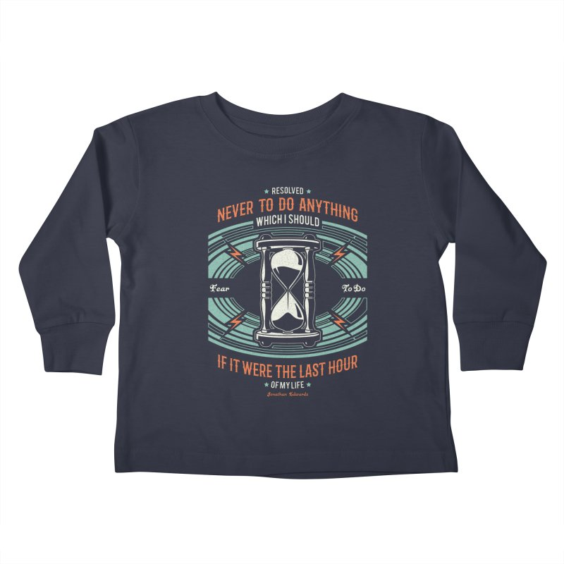 Resolution No. 7 | Jonathan Edwards Kids Toddler Longsleeve T-Shirt by Reformed Christian Goods & Clothing