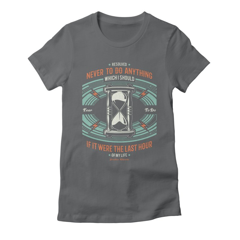Resolution No. 7 | Jonathan Edwards Women's Fitted T-Shirt by Reformed Christian Goods & Clothing