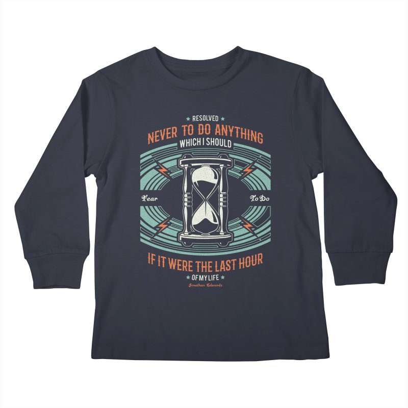 Resolution No. 7 | Jonathan Edwards Kids Longsleeve T-Shirt by A Worthy Manner Goods & Clothing