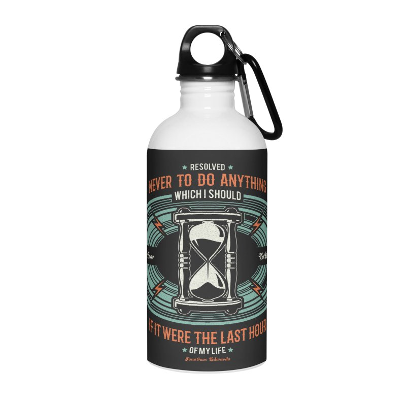 Resolution No. 7 | Jonathan Edwards Accessories Water Bottle by Reformed Christian Goods & Clothing