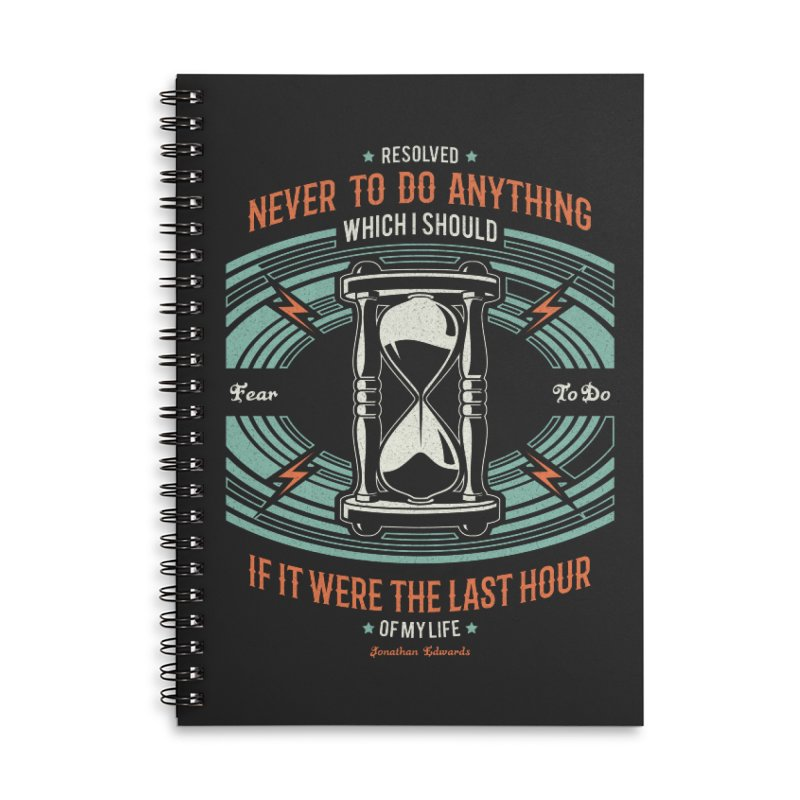 Resolution No. 7 | Jonathan Edwards Accessories Lined Spiral Notebook by Reformed Christian Goods & Clothing