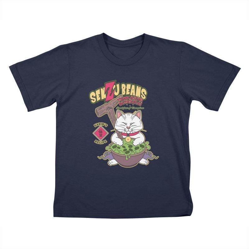 DRAGON BALL Z SENZU BEANS Kids T-Shirt by refritomix
