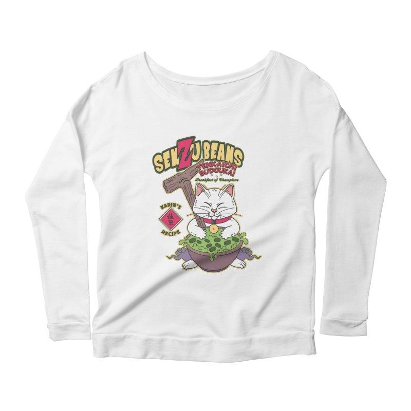 DRAGON BALL Z SENZU BEANS Women's Scoop Neck Longsleeve T-Shirt by refritomix