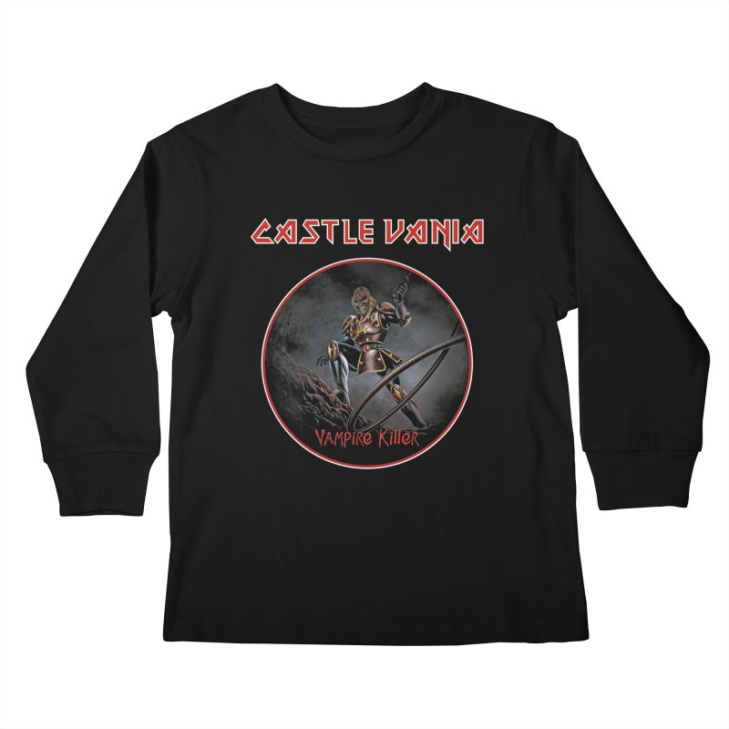 CASTLEVANIA & IRON MAIDEN Kids Longsleeve T-Shirt by refritomix