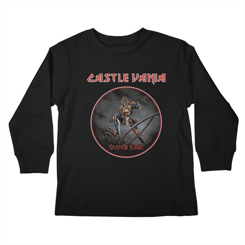 CASTLEVANIA & IRON MAIDEN Kids Longsleeve T-Shirt by refritomix