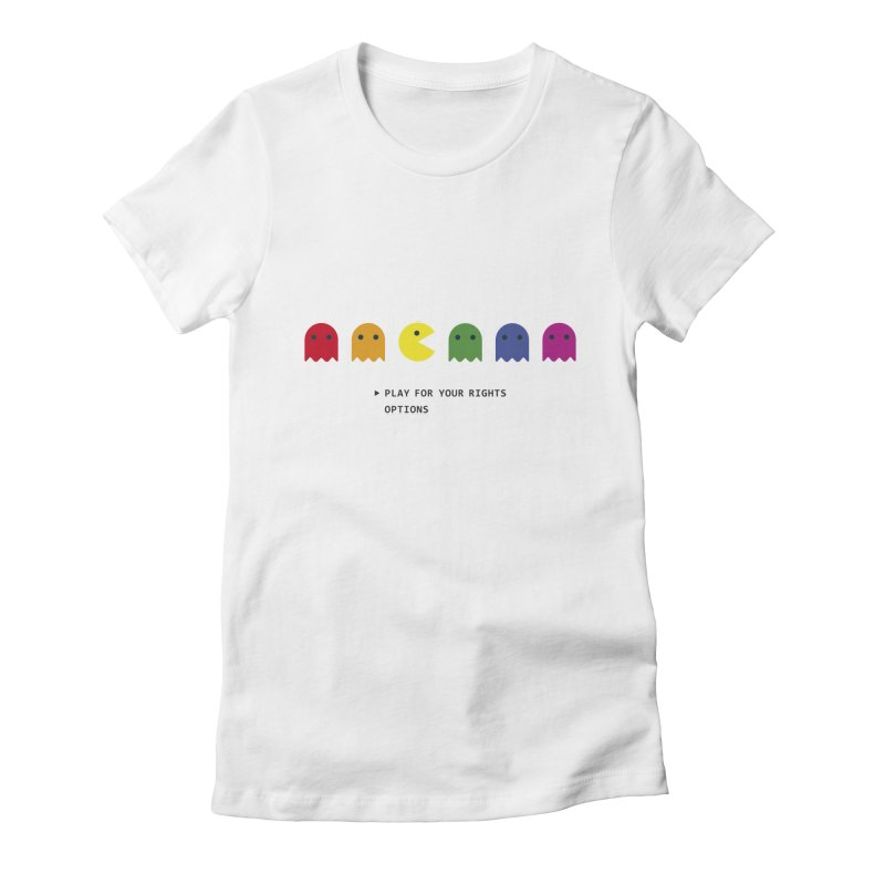 PLAY FOR YOUR RIGHTS Women's Fitted T-Shirt by refritomix
