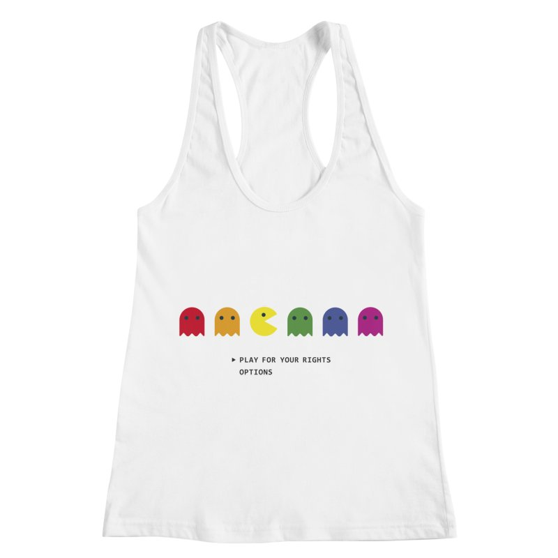 PLAY FOR YOUR RIGHTS Women's Racerback Tank by refritomix