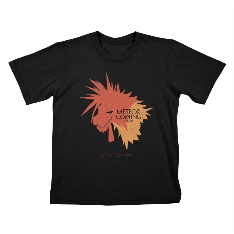 RED XIII METEOR IS COMING Kids T-Shirt by refritomix