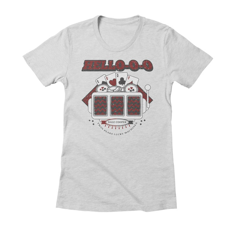 TWIN PEAKS HELLO Women's Fitted T-Shirt by refritomix