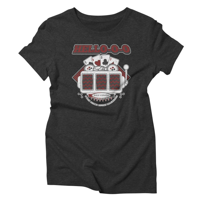 TWIN PEAKS HELLO Women's Triblend T-Shirt by refritomix