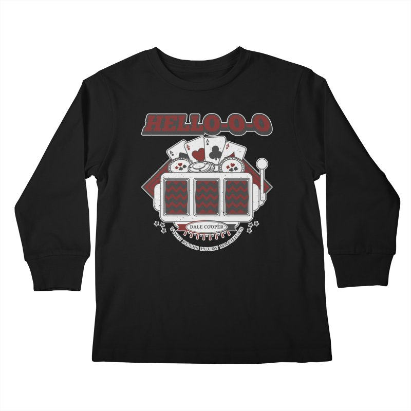 TWIN PEAKS HELLO Kids Longsleeve T-Shirt by refritomix