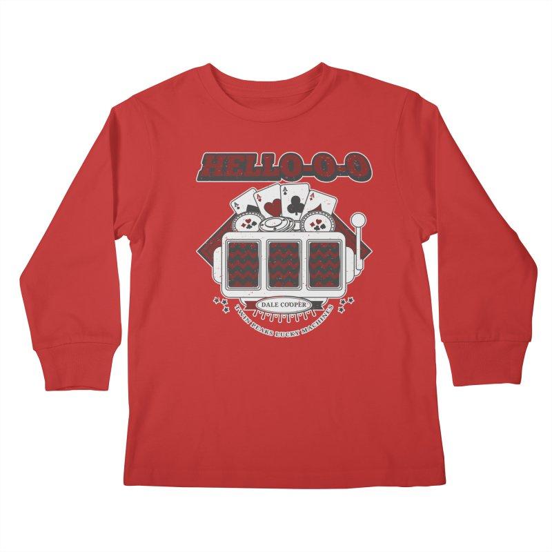 TWIN PEAKS HELLO Kids Longsleeve T-Shirt by refritomix