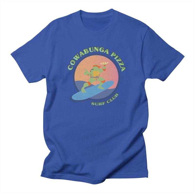 COWABUNGA PIZZA SURF CLUB Men's T-Shirt by refritomix