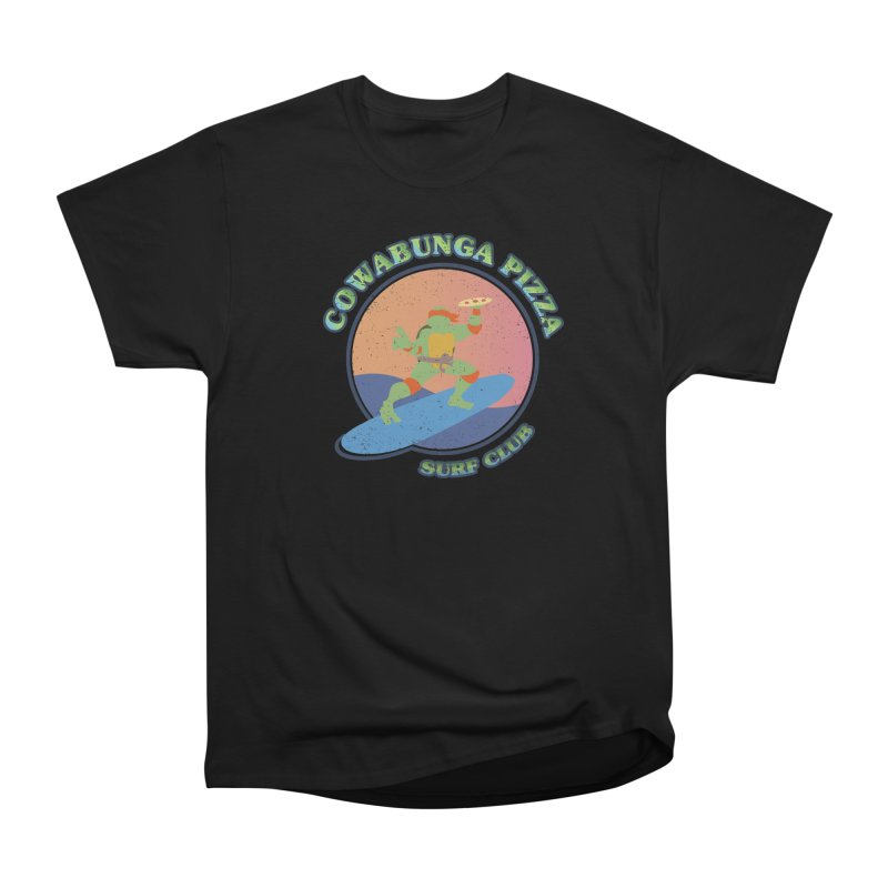 COWABUNGA PIZZA SURF CLUB Men's Classic T-Shirt by refritomix