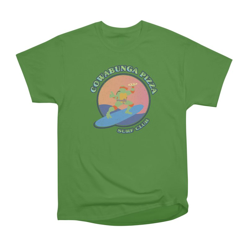 COWABUNGA PIZZA SURF CLUB Women's Classic Unisex T-Shirt by refritomix