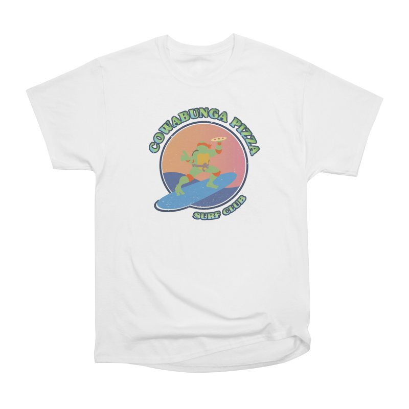 COWABUNGA PIZZA SURF CLUB Women's Heavyweight Unisex T-Shirt by refritomix