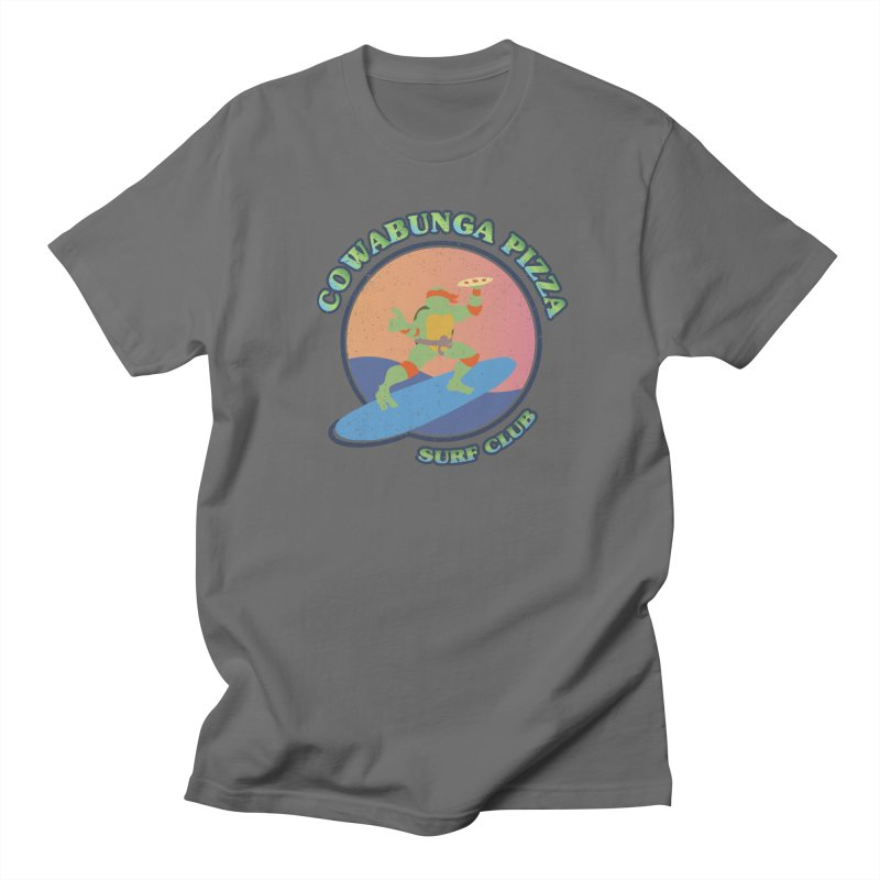 COWABUNGA PIZZA SURF CLUB Men's Regular T-Shirt by refritomix