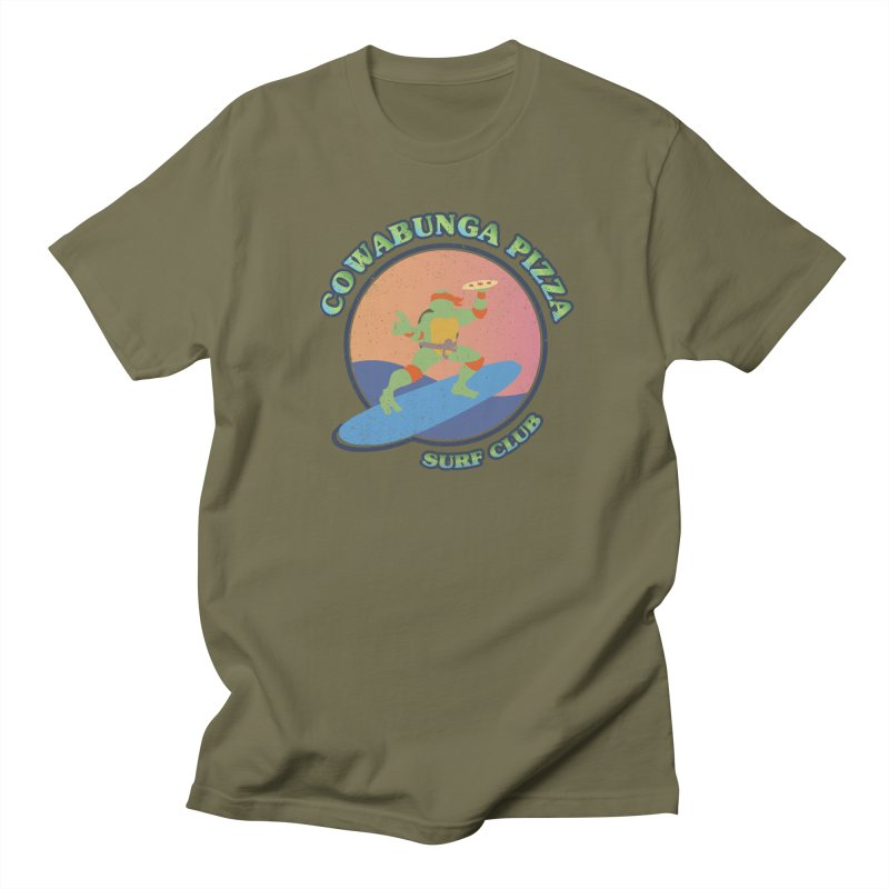 COWABUNGA PIZZA SURF CLUB Men's Regular T-Shirt by refritomix