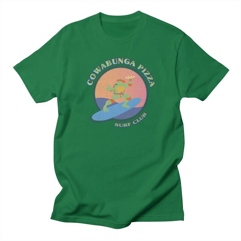 COWABUNGA PIZZA SURF CLUB Women's Unisex T-Shirt by refritomix