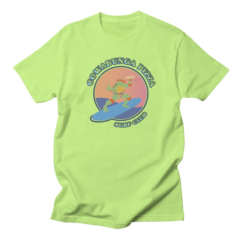 COWABUNGA PIZZA SURF CLUB Women's Unisex T-Shirt by refritomix