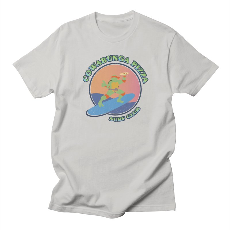 COWABUNGA PIZZA SURF CLUB Women's Regular Unisex T-Shirt by refritomix