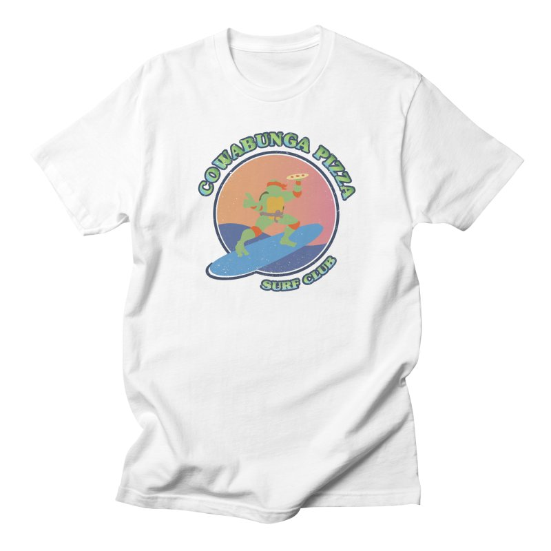COWABUNGA PIZZA SURF CLUB Women's Regular Unisex T-Shirt by refritomix