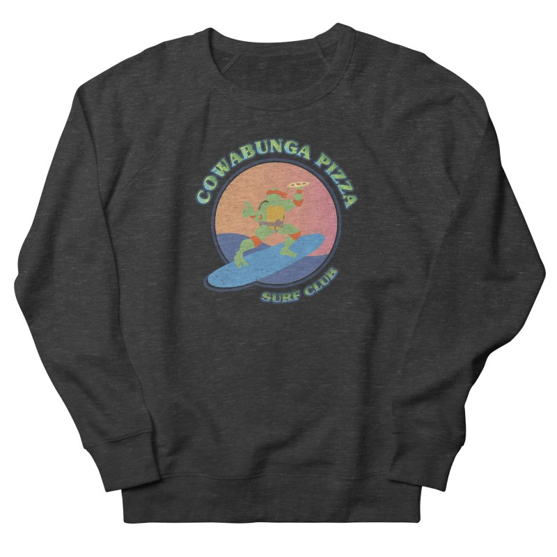 COWABUNGA PIZZA SURF CLUB Women's French Terry Sweatshirt by refritomix