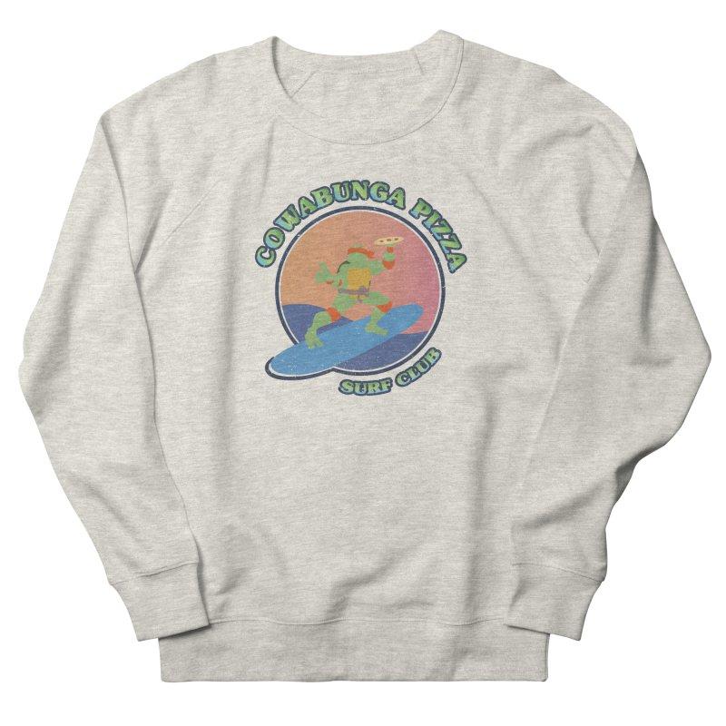COWABUNGA PIZZA SURF CLUB Women's French Terry Sweatshirt by refritomix