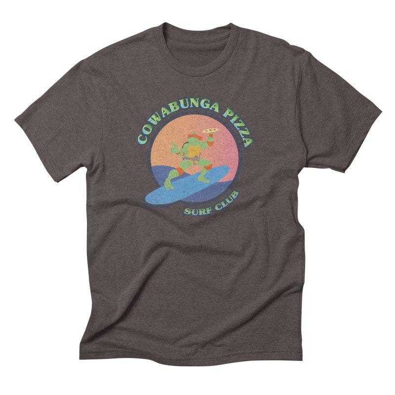 COWABUNGA PIZZA SURF CLUB Men's Triblend T-Shirt by refritomix