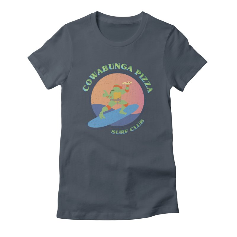 COWABUNGA PIZZA SURF CLUB Women's T-Shirt by refritomix