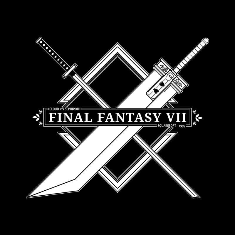 FINAL FANTASY VII SWORDS Men's T-Shirt by refritomix