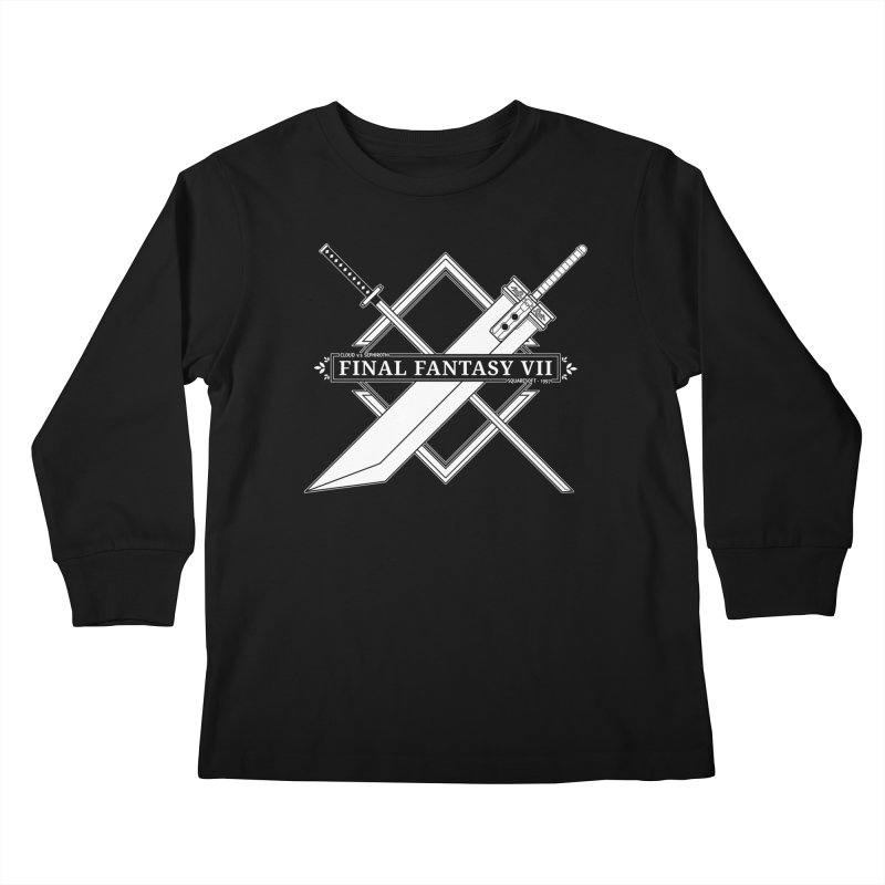 FINAL FANTASY VII SWORDS Kids Longsleeve T-Shirt by refritomix