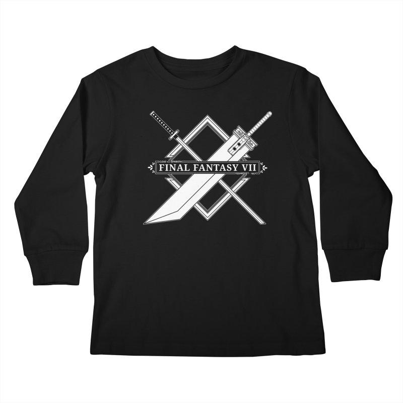 FINAL FANTASY VII SWORDS Kids Longsleeve T-Shirt by refritomix