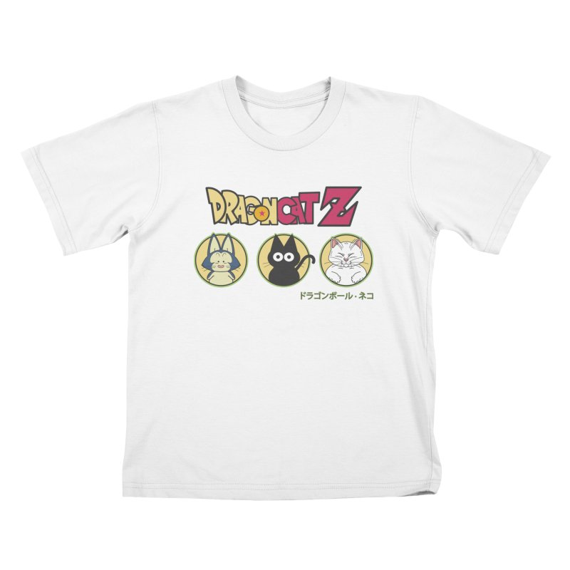 DRAGON CATZ Kids T-Shirt by refritomix