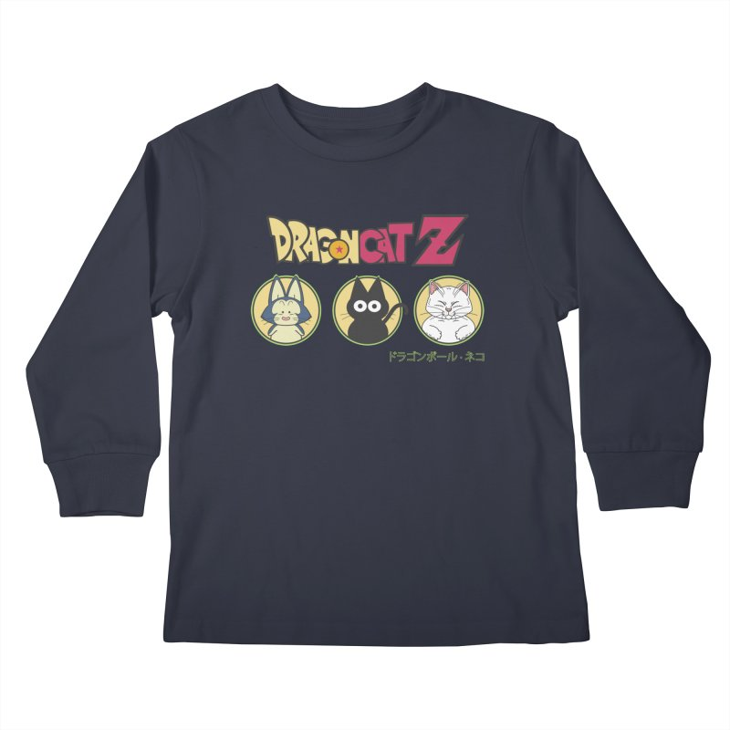 DRAGON CATZ Kids Longsleeve T-Shirt by refritomix