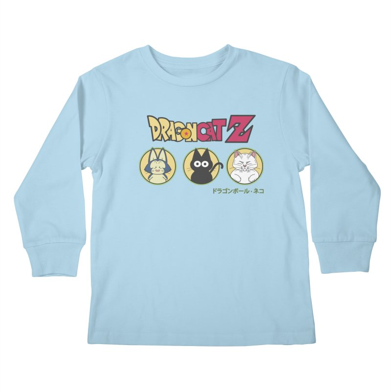 DRAGON CATZ Kids Longsleeve T-Shirt by refritomix