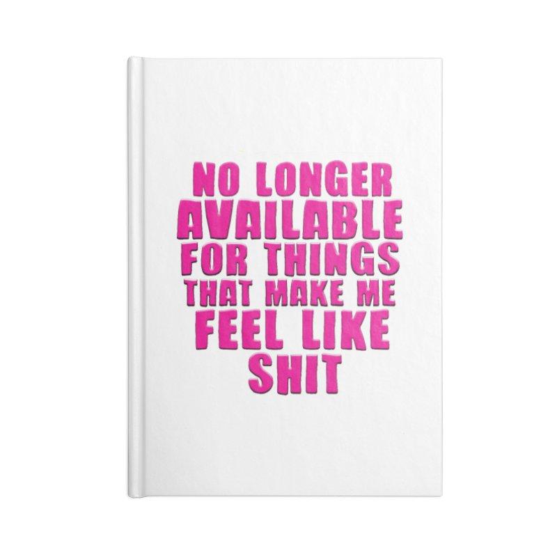 No Longer Accessories Notebook by JD's Artist Shop