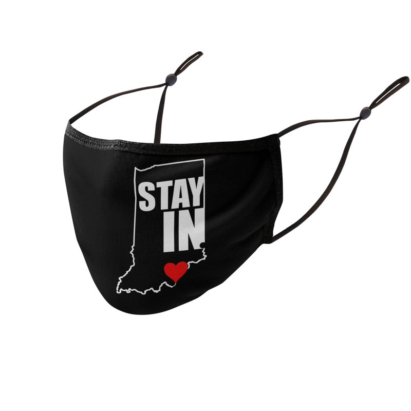 Stay IN Indiana Accessories Face Mask by JD's Artist Shop