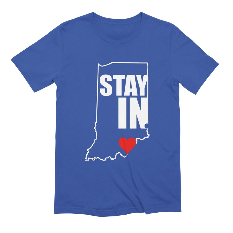 Stay IN Indiana Men's T-Shirt by JD's Artist Shop