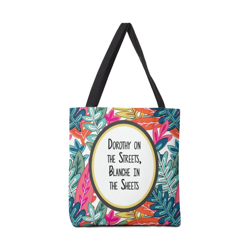 Dorothy In The Sheets, Blanche In The Sheets Accessories Bag by JD's Artist Shop