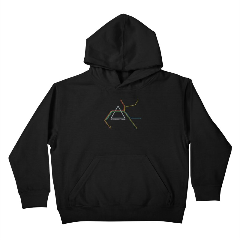 Dark Side of the Bay Kids Pullover Hoody by rego's Artist Shop