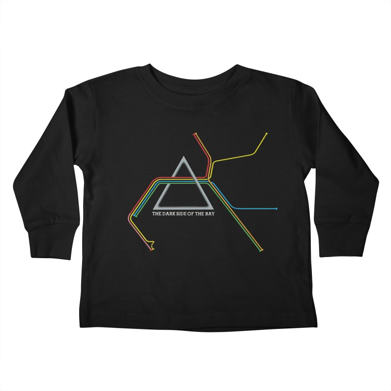 Dark Side of the Bay Kids Toddler Longsleeve T-Shirt by rego's Artist Shop