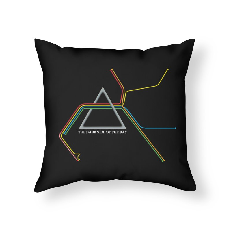 Dark Side of the Bay Home Throw Pillow by rego's Artist Shop