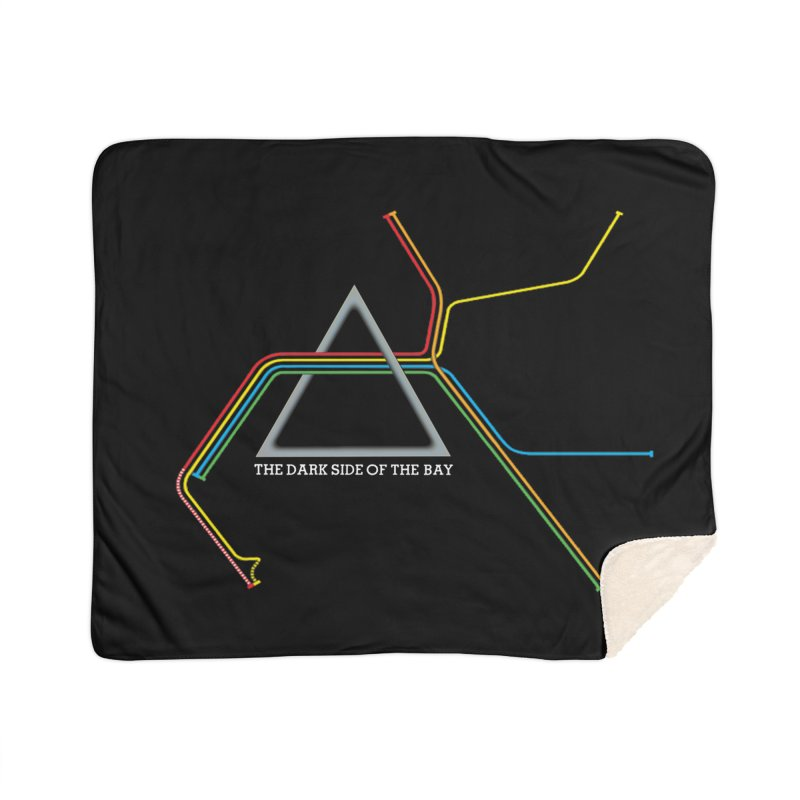 Dark Side of the Bay Home Blanket by rego's Artist Shop